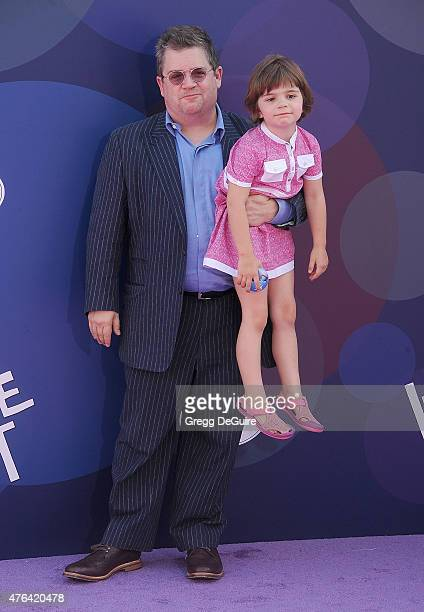 Actor Patton Oswalt and daughter Alice Rigney Oswalt arrive at the Los Angeles premiere of Disney/Pixar's 'Inside Out' at the El Capitan Theatre on...