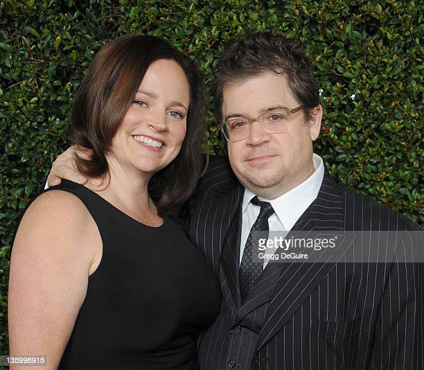 Actor Patton Oswalt and wife Michelle McNamara arrive at the 'Young Adult' Los Angeles Premiere at AMPAS Samuel Goldwyn Theater on December 15 2011...