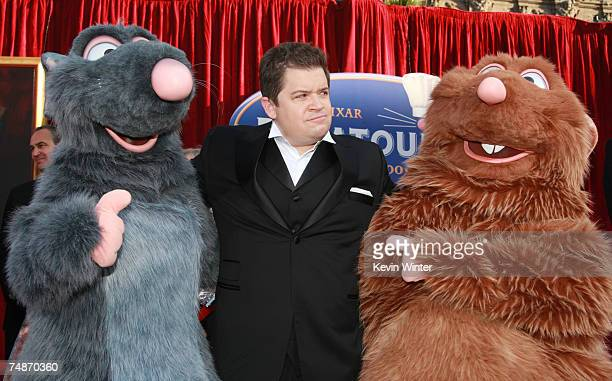 Actor Patton Oswalt poses at the premiere of Disney/Pixar's 'Ratatouille' at the Kodak Theater on June 22 2007 in Los Angeles California