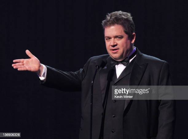 Actor Patton Oswalt speaks onstage during the 17th Annual Critics' Choice Movie Awards held at The Hollywood Palladium on January 12 2012 in Los...