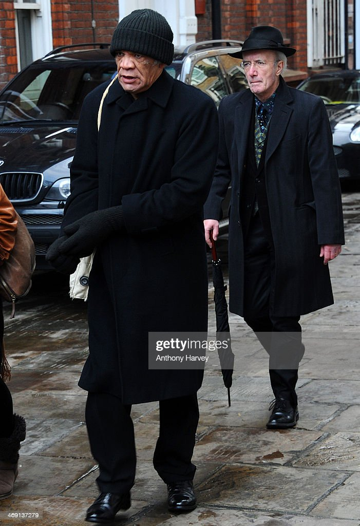 Actor Paul Barber attends the funeral of actor Roger Lloyd-Pack at St Paul's Church on February 13, 2014 in London, England.