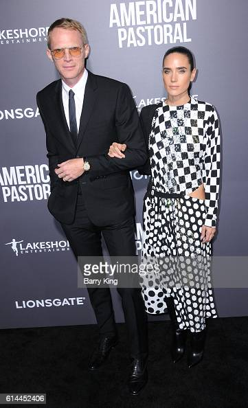 Actor Paul Bettany and actress Jennifer Connelly attend the premiere of Lionsgate's' 'American Pastoral' at Samuel Goldwyn Theatre on October 13 2016...