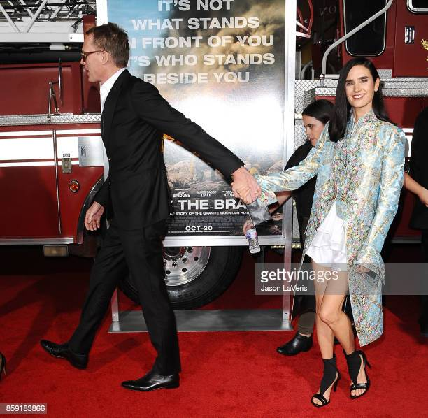 Actor Paul Bettany and actress Jennifer Connelly attend the premiere of 'Only the Brave' at Regency Village Theatre on October 8 2017 in Westwood...