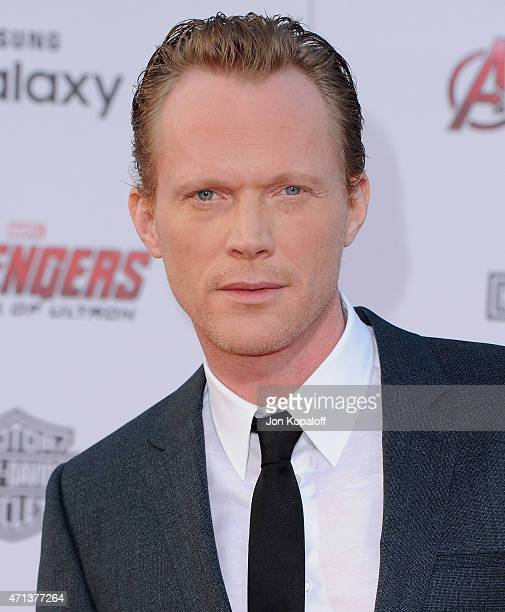 Actor Paul Bettany arrives at the Los Angeles Premiere Marvel's 'Avengers Age Of Ultron' at Dolby Theatre on April 13 2015 in Hollywood California
