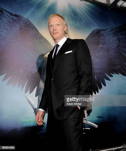 Actor Paul Bettany arrives at the premiere of Screen Gems' 'Legion' at the ArcLight's Cinerama Dome Theater on January 21 2010 in Los Angeles...