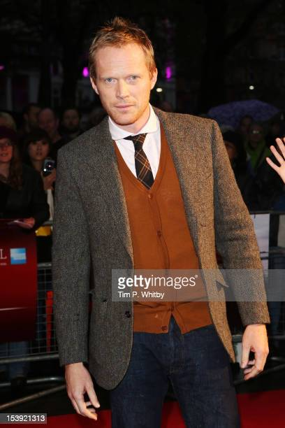 Actor Paul Bettany attends the premiere of 'Blood' during the 56th BFI London Film Festival at Odeon West End on October 11 2012 in London England