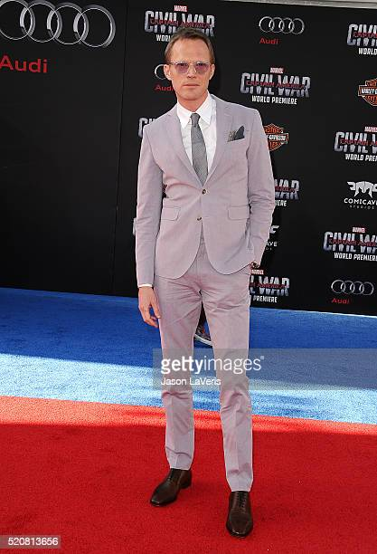Actor Paul Bettany attends the premiere of 'Captain America Civil War' at Dolby Theatre on April 12 2016 in Hollywood California