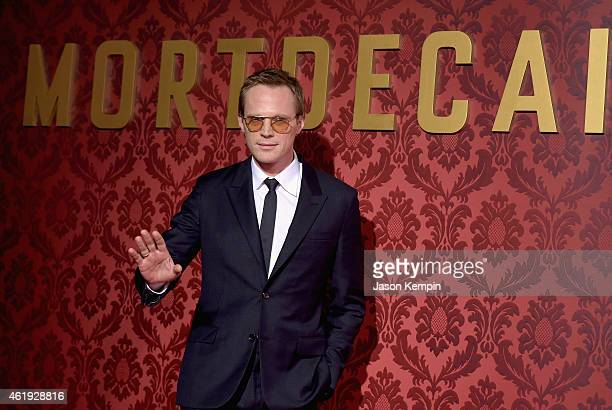 Actor Paul Bettany attends the premiere of Lionsgate's 'Mortdecai' at TCL Chinese Theatre on January 21 2015 in Hollywood California