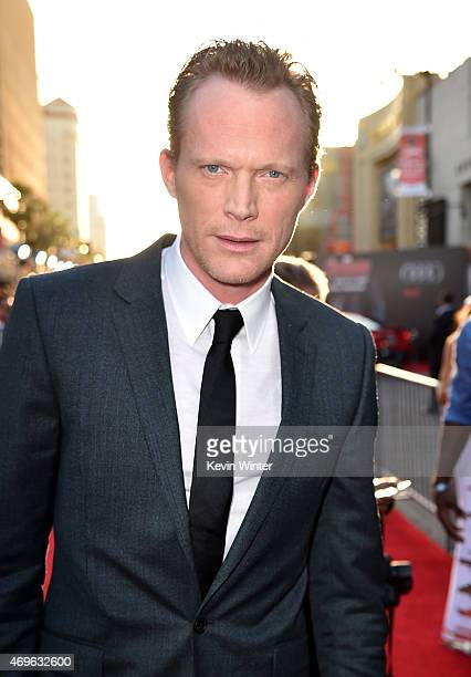 Actor Paul Bettany attends the premiere of Marvel's 'Avengers Age Of Ultron' at Dolby Theatre on April 13 2015 in Hollywood California