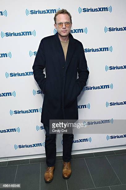 Actor Paul Bettany visits the SiriusXM Studios on November 9 2015 in New York City