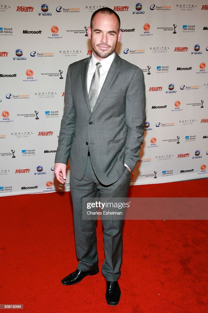 Actor Paul Blackthorne attends the 36th annual International Emmy Awards recognizing excellence in television programming produced outside of the...