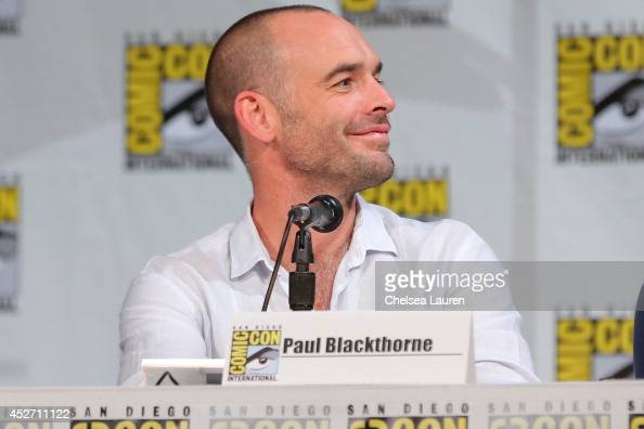 Actor Paul Blackthorne attends the 'Arrow' panel on July 25 2014 in San Diego California