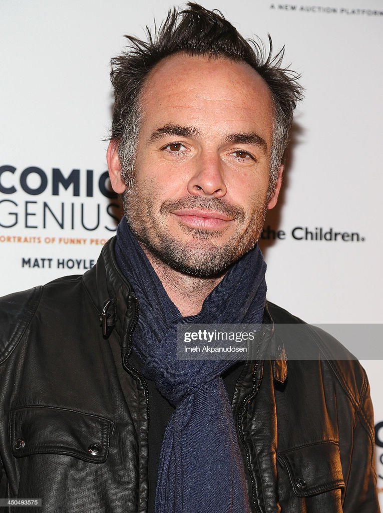 Actor Paul Blackthorne attends the Save The Children Foundation celebration of 'Comic Genius Portraits Of Funny People' at Bergamot Station on...