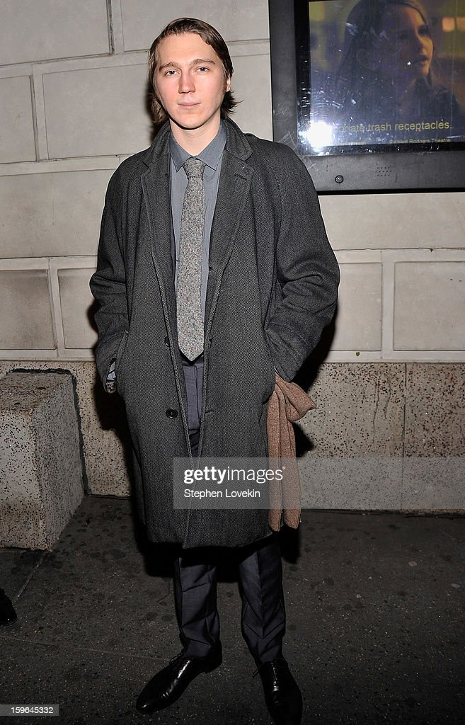 Actor Paul Dano attends the 'Cat On A Hot Tin Roof' Opening Night at Richard Rodgers Theatre on January 17, 2013 in New York City.