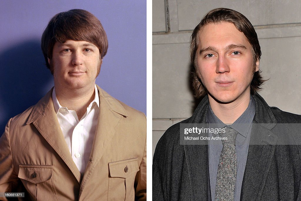 In this composite image a comparison has been made between (L) Brian Wilson and actor Paul Dano. Actor Paul Dano will reportedly play musician Brian Wilson in a film biopic 'Love and Mercy' from a script by Oren Moverman and directed by Bill Pohlad. NEW YORK, NY - JANUARY 17: Actor Paul Dano attends the 'Cat On A Hot Tin Roof' Opening Night at Richard Rodgers Theatre on January 17, 2013 in New York City.