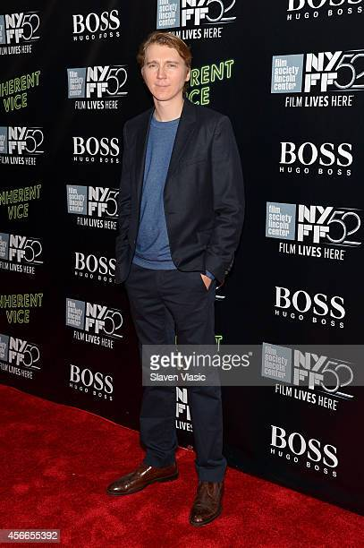 Actor Paul Dano attends the Centerpiece Gala Presentation and World Premiere of 'Inherent Vice' during the 52nd New York Film Festival at Alice Tully...
