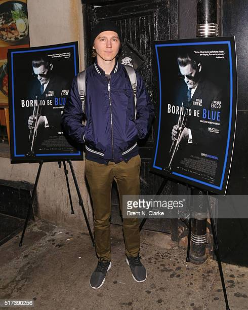 Actor Paul Dano attends the New York screening of 'Born To Be Blue' at the Blue Note Jazz Club on March 24 2016 in New York City