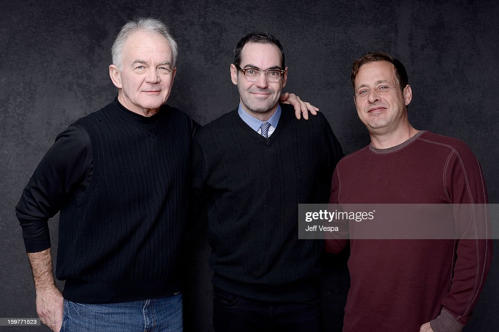 Actor Paul Eenhoorn, filmmaker Chad Hartigan, and actor Richmond Arquette pose for a portrait during the 2013 Sundance Film Festival at the WireImage Portrait Studio at Village At The Lift on January 20, 2013 in Park City, Utah.
