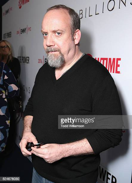 Actor Paul Giamatti attends For Your Consideration Screening and Panel for Showtime's 'Billions' at The WGA Theater on April 26 2016 in Beverly Hills...