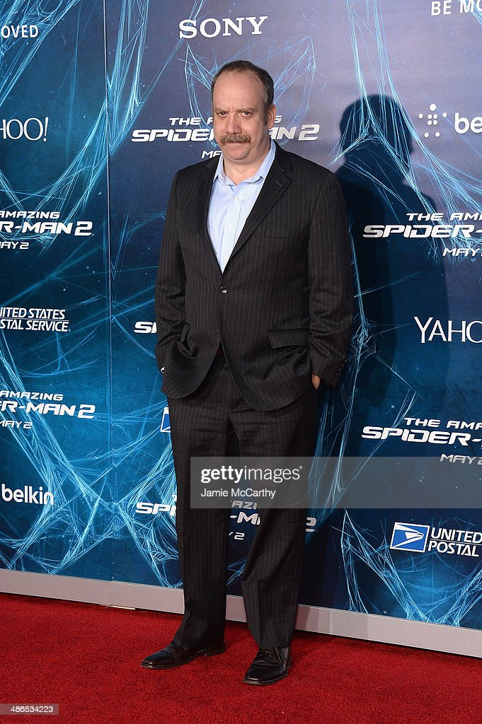 Actor <a gi-track='captionPersonalityLinkClicked' href=/galleries/search?phrase=Paul+Giamatti&family=editorial&specificpeople=202498 ng-click='$event.stopPropagation()'>Paul Giamatti</a> attends 'The Amazing Spider-Man 2' premiere at the Ziegfeld Theater on April 24, 2014 in New York City.