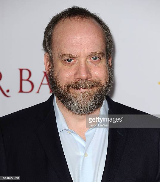 Actor Paul Giamatti attends the premiere of 'Saving Mr Banks' at Walt Disney Studios on December 9 2013 in Burbank California