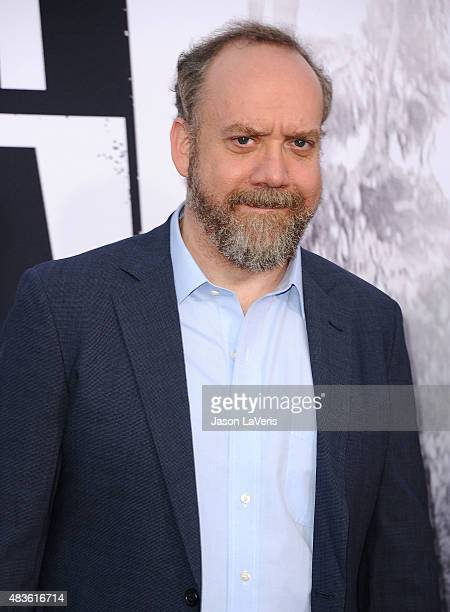 Actor Paul Giamatti attends the premiere of 'Straight Outta Compton' at Microsoft Theater on August 10 2015 in Los Angeles California