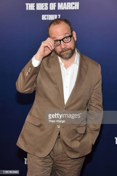 Actor Paul Giamatti attends the premiere of 'The Ides of March' at the Ziegfeld Theater on October 5 2011 in New York City