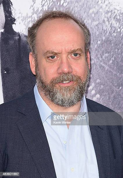Actor Paul Giamatti attends the Universal Pictures and Legendary Pictures' premiere of 'Straight Outta Compton' at Microsoft Theater on August 10...