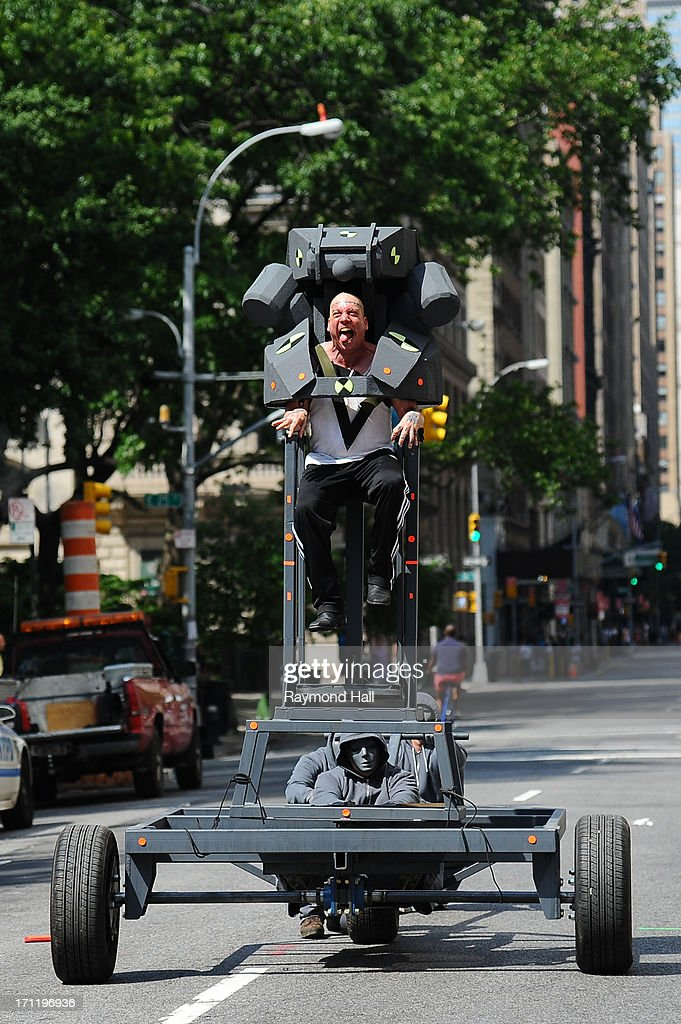 Actor Paul Giamatti is seen on set of 'The Amazing Spider-Man 2' on June 22, 2013 in New York City.