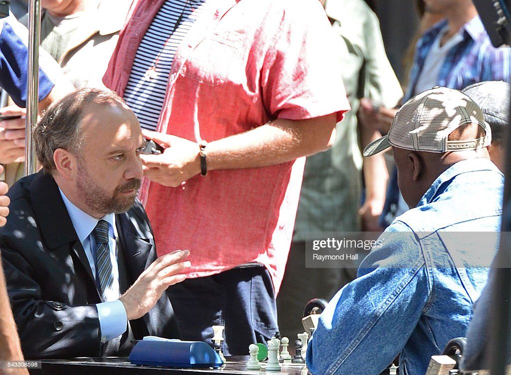 Actor <a gi-track='captionPersonalityLinkClicked' href=/galleries/search?phrase=Paul+Giamatti&family=editorial&specificpeople=202498 ng-click='$event.stopPropagation()'>Paul Giamatti</a> is seen on the set of Billions in Soho on June 27, 2016 in New York City.
