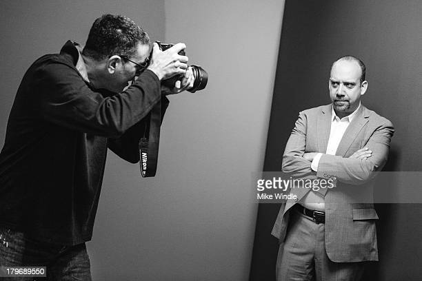 Actor Paul Giamatti poses for a portrait with photographer Larry Busacca during the 2013 Toronto International Film Festival on September 6 2013 in...