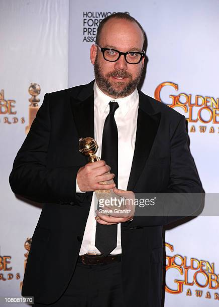 Actor Paul Giamatti poses in the press room at the 68th Annual Golden Globe Awards held at The Beverly Hilton hotel on January 16 2011 in Beverly...