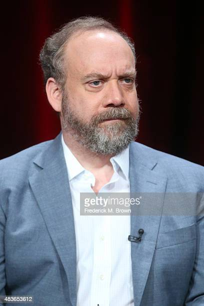 Actor Paul Giamatti speaks onstage during the 'Billions' panel discussion at the Showtime portion of the 2015 Summer TCA Tour at The Beverly Hilton...