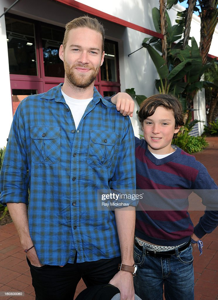 Actor Paul Haapaniemi and actor Finn Clapp of the film 'The Racket Boys' attends the 28th Santa Barbara International Film Festival on January 28, 2013 in Santa Barbara, California.