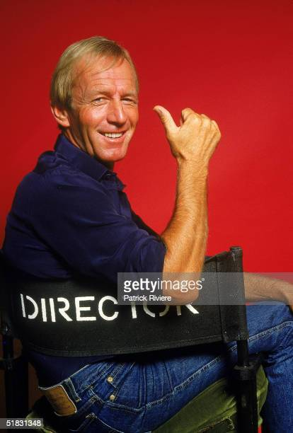 Actor Paul Hogan poses at his home in Mona Vale at the time of the promotion of his movie 'Crocodile Dundee' 1985 in Sydney Australia