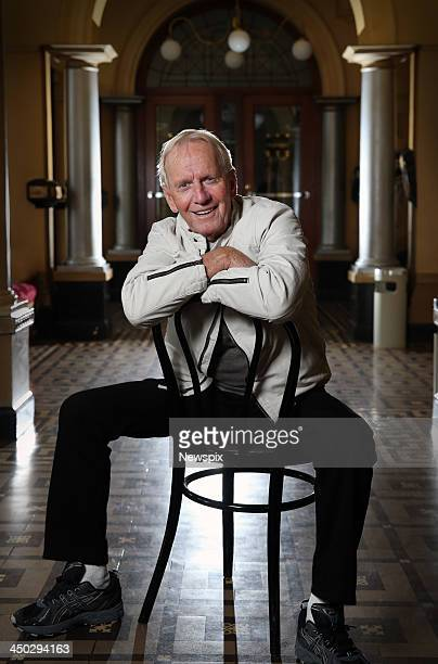 Actor Paul Hogan poses during a photo shoot at the Princess Theatre on November 13 2013 in Melbourne Australia Hogan is in Melbourne to promote his...