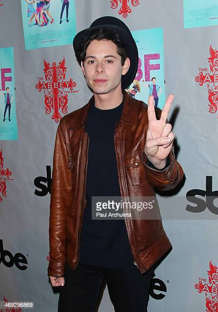 Actor Paul Iacono attends the DVD release party for 'GBF' at The Abbey on February 13 2014 in West Hollywood California