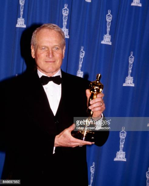 Actor Paul Newman holding his 'Jean Hersholt Humanitarian Oscar Award' at the 66th Academy Awards held at the Dorothy Chandler Pavilion Los Angeles...