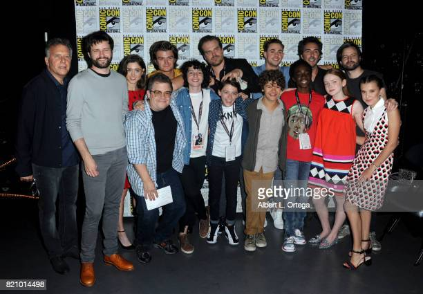Actor Paul Reiser writer/producer Ross Duffer actor Natalia Dyer moderator Patton Oswalt actors Joe Keery Finn Wolfhard David Harbour Noah Schnapp...