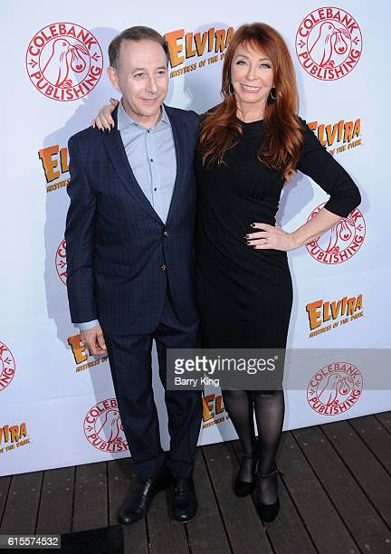 Actor Paul Reubens and actress Cassandra Peterson aka Elvira attend the book launch of her new book 'Elvira Mistress Of The Dark' at Hollywood...