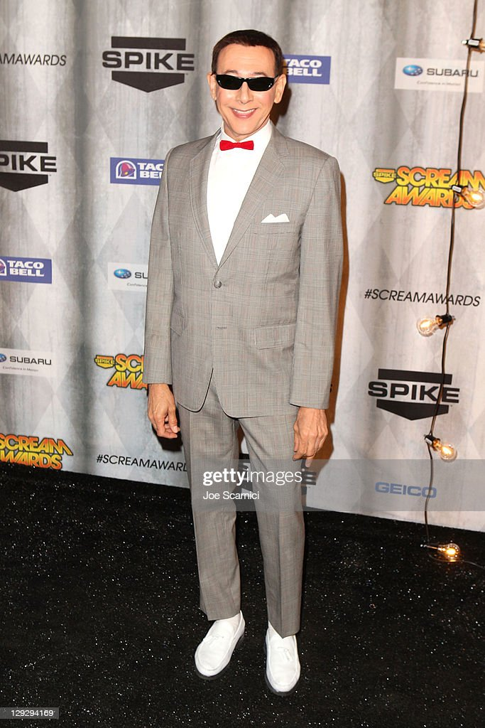 Actor <a gi-track='captionPersonalityLinkClicked' href=/galleries/search?phrase=Paul+Reubens+-+Actor&family=editorial&specificpeople=235408 ng-click='$event.stopPropagation()'>Paul Reubens</a> arrives at Spike TV's 'SCREAM 2011' awards held at the Universal Studios Backlot on October 15, 2011 in Universal City, California.