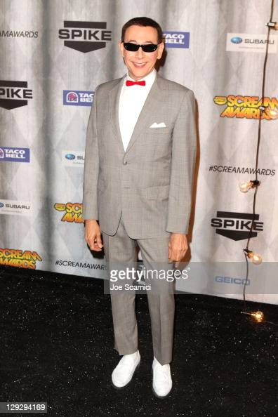 Actor Paul Reubens arrives at Spike TV's 'SCREAM 2011' awards held at the Universal Studios Backlot on October 15 2011 in Universal City California