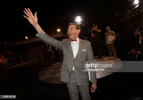 Actor Paul Reubens arrives at Spike TV's 'SCREAM 2011' awards held at Universal Studios on October 15 2011 in Universal City California