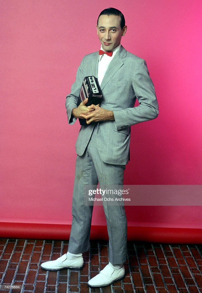 Actor Paul Reubens poses for a portrait dressed as his character Pee-wee Herman in May 1980 in Los Angeles, California.