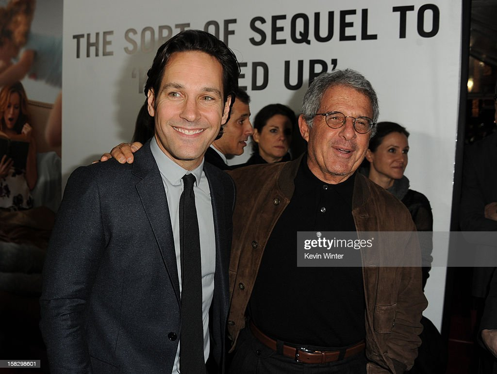 Actor Paul Rudd and Universal Studios President and CEO Ron Meyer attend the premiere of Universal Pictures' 'This Is 40' at Grauman's Chinese Theatre on December 12, 2012 in Hollywood, California.