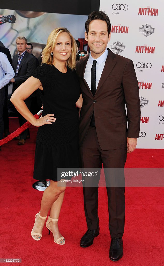 Actor Paul Rudd (R) and wife Julie Yaeger arrive at the ...