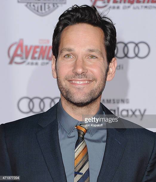 Actor Paul Rudd arrives at the Los Angeles Premiere Marvel's 'Avengers Age Of Ultron' at Dolby Theatre on April 13 2015 in Hollywood California