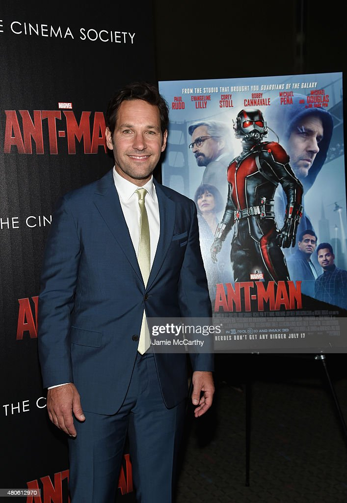 Actor Paul Rudd attends Marvel's screening of 'Ant-Man' hosted by The Cinema Society and Audi at SVA Theater on July 13, 2015 in New York City.