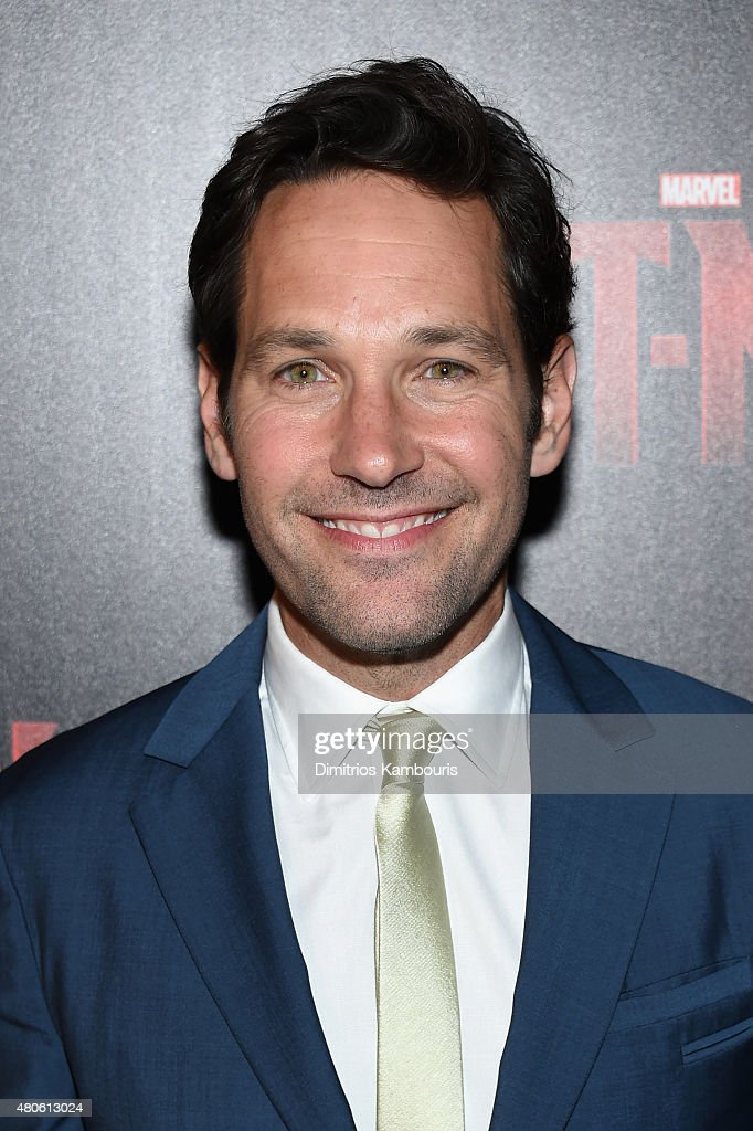 Actor <a gi-track='captionPersonalityLinkClicked' href=/galleries/search?phrase=Paul+Rudd&family=editorial&specificpeople=209014 ng-click='$event.stopPropagation()'>Paul Rudd</a> attends Marvel's screening of 'Ant-Man' hosted by The Cinema Society and Audi at SVA Theater on July 13, 2015 in New York City.