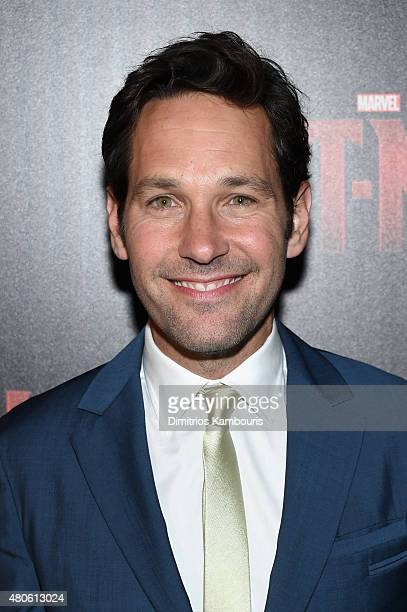Actor Paul Rudd attends Marvel's screening of 'AntMan' hosted by The Cinema Society and Audi at SVA Theater on July 13 2015 in New York City